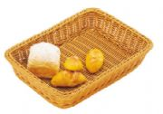 Deep rectangular rattan basket (brown)WH6507
