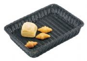 Deep rectangular rattan basket (black)WH6509