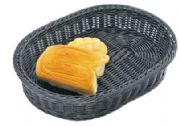 Elliptic rattan basket (black)WH6515
