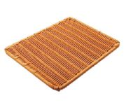 Rectangular rattan imitation board (brown)WH6536
